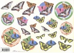 Knipvel A4 Mireille E722 Dieren/vlinders
