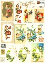 A4 Knipvel MD VK9504 Vintage Post cards