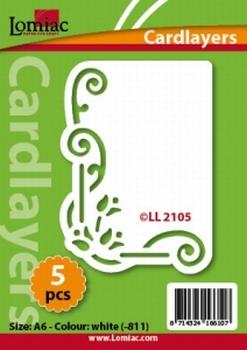 Lomiac Oplegkaart LL2105 tulp met krul wit