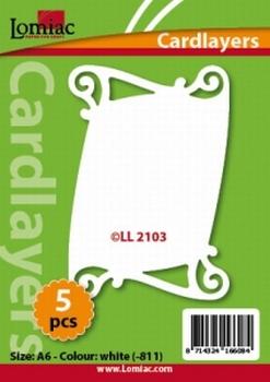 Lomiac Oplegkaart LL2103 wit