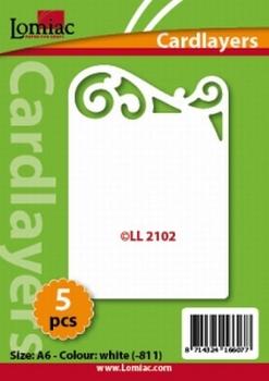Lomiac Oplegkaart LL2102 wit