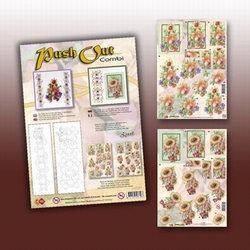 Card Deco Push Out Combi POCS01 Zonnebloem