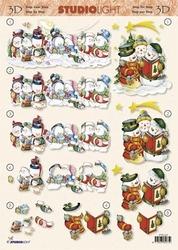 A4 Kerstknipvel Studio Light STSL 285 Sneeuwpoppen zingen