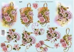 A4 Knipvel TBZ 572323 Solsleutel/hoefijzer met bloemen