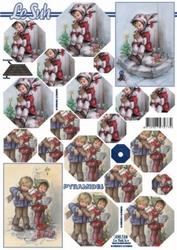 A4 Kerstvel Le Suh pyramide 630124 Muziekale kinderen