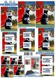 A4 Kerstvel Le Suh pyramide 630009 Hond voor het raam