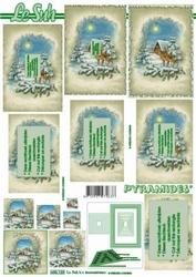 A4 Kerstvel Le Suh pyramide 630123 Landschap met bambi