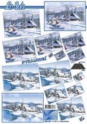 A4 Kerstvel Le Suh pyramide 630129 Sneeuwlandschap