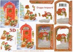 A4 Knipvel Le Suh Kerst 4169339 Kinderen in de sneeuw