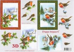 A4 Knipvel Le Suh Kerst 4169338 Roodborstje in de winter