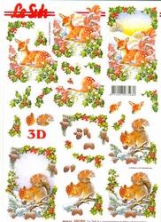 A4 Kerstknipvel Le Suh 650003 Bambi/eekhoorn