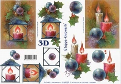 A4 Knipvel Le Suh Kerst 4169139 Lantaarn/kaars