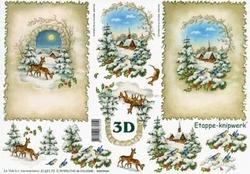 A4 Knipvel Le Suh Kerst 4169179 Hertjes in de winter