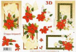 A4 Knipvel Le Suh Kerst 4169185 Kerstroos & kaars