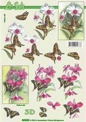 A4 Knipvel Le Suh 8215220 Orchidee/vlinder
