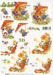 A4 Knipvel Le Suh 4169938 Paddestoel met muis