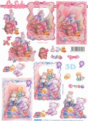 A4 Knipvel Le Suh 4169910 Geboorte knuffels