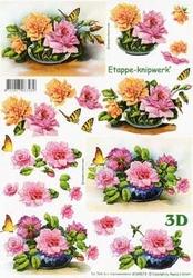 A4 Knipvel Le Suh 4169613 Bloemen  met vlinder