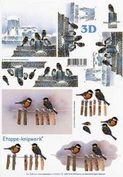 A4 Knipvel Le Suh 4169601 Vogels/meesjes & mussen i/d sneeuw