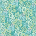 Scrapbookvel K&Company 660793 Glad papier blue flowers polka