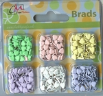 Creamotion brads BE440699  6 kleuren pastel hartjes