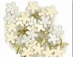 Creamotion brads BE374799  zilver/goud glitter bloemen
