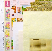LeCreaDesign Sticker-C-Stitch Twinny kit 61.5328 Geel