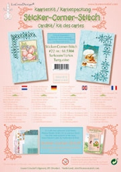 LeCreaDesign Sticker-C-Stitch Twinny kit 61.5304 Turkoois