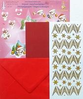 LeCrea Mylo & Friends Kerst kit 3D 51.5380 Rood ster