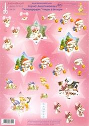 LeCreaDesign A4 Kerstknipvel Mylo & Friends nr 39 Ster