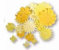 Rayher Papier bloemen mengeling 5620 Geelinten