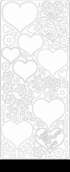 Peel 'offs stickervel harten 0427 Zwart