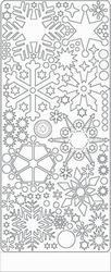 Peel 'offs stickervel ijskristal 0436 Wit