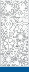 Peel 'offs stickervel ijskristal 0436 Donkerblauw