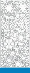 Peel 'offs stickervel ijskristal 0436 Lichtblaux