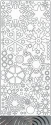 Peel 'offs stickervel ijskristal 0436 Zilver