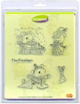 Clear stamps Card Deco Stampies ST10011 Winterpret