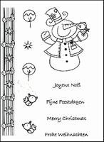 Clear stempel Nellie'S set Ollie  94270/3 Snowman