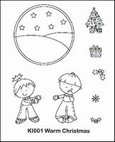 Clear stempel Nellie'S set Kiddie  94271/1 Christmas garden