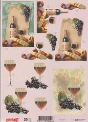 3D Knipvel Pick UP Pu068 Wijn druiven