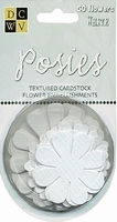 DCWV Posies papieren bloemen 00006 Lichtblauw