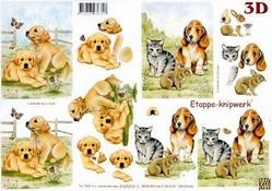 A4 Knipvel Le Suh 4169233 Dieren kitten/puppie/konijntje