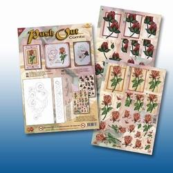 Card Deco PushOut Combi POCS03 Vaas met bloemen
