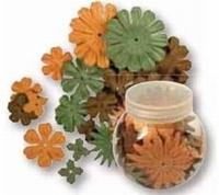 Rayher Papier bloemen mengeling 5105 Bruin/Groentinten
