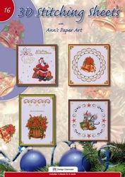 Ann's Paper Art 3D Stitching Sheets 16 Kerst