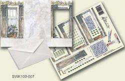 Olba pyramidebloenenkaart SWK100-007 Bloemen voor raam
