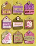 K&Company Adhesive Chipboard Stickers labels K-ology