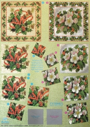 A4 Metallic Knipvel  765 Pyramide kerstbloemen