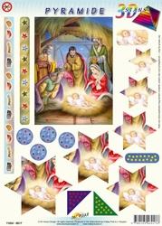 Hobbypost 3D Stansvel Pyramide 6017 De wijze bij Jezus