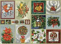 Dufex Metallic Stickervel Kerst 2583 Kerst stukjes/bloem